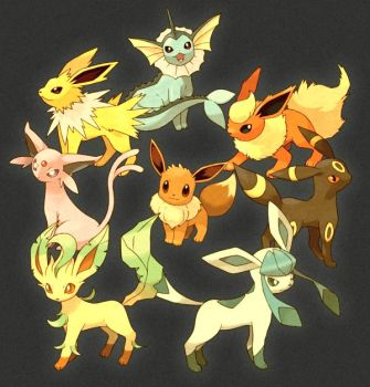 eevee evolutions by flareonlover7