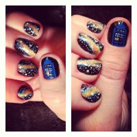 Nailssss 40: Special Doctor Who Theme by yummehMOO