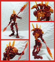 Bionicle MOC - Molten Rahkshi by Alex-Darkrai
