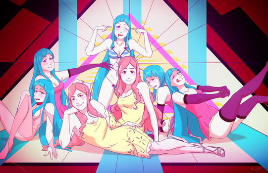 All the 2D ladies by OverVenture