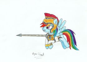 Colonel Rainbow Dash, the Element of Loyalty by UlyssesGrant