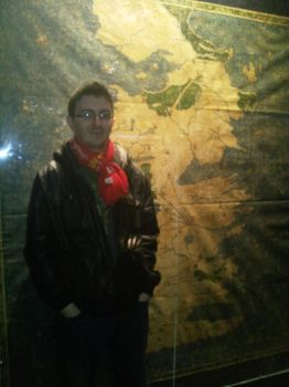 Me and a canvas map of Westeros by Eaglelives