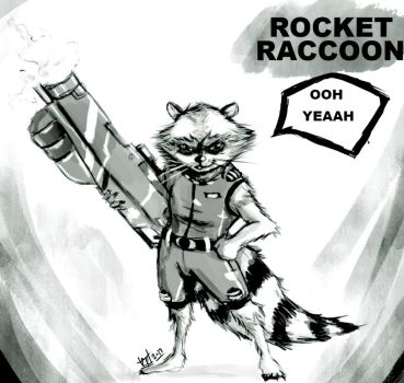 Rocket Raccoon by EarthsSaviorSonGoku