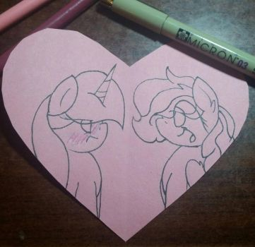 Chears and Sparkle Heart by MlpCocoaBean64