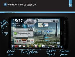 Windows Phone Concept GUI by yankoa