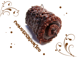 Chocolate Swiss Roll by monsterkookies