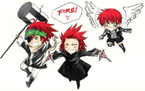 CFUD: Chibi redhaired crew by beanclam