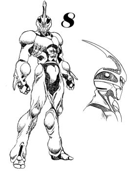 Guyver 8 Line art by lokicube