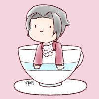 edgeworth in a cup by tendercuddles