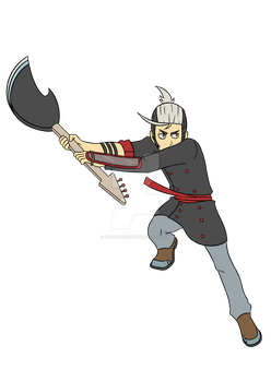 Teion - Bass Blade - attacking pose by DoctorChibi