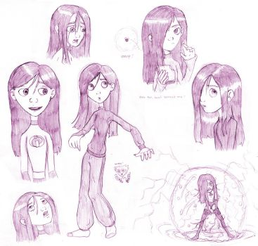 Violet Parr Sketches by Aphius