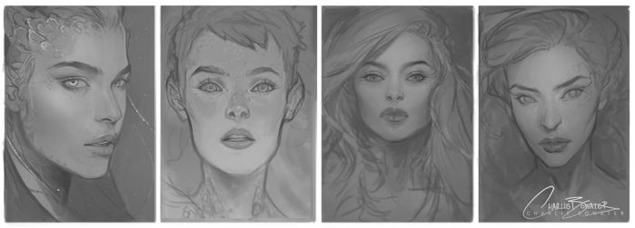 ImagineFX Issue 114 Cover Sketches by Charlie-Bowater