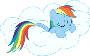 Rainbow Dash napping - vector by VaderPL