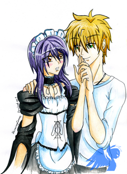 Misaki and Usui by ShiveringCanvas
