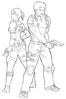 Sexy Zombie Hunters by Wakamoley