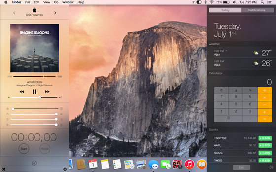 Control Centre for OSX Yosemite by xcobaltfury30000