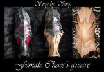 Chaos female armor greave by Deakath