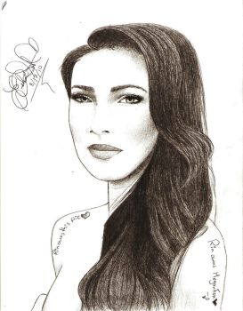 my Megan Fox drawing by HACKproductions