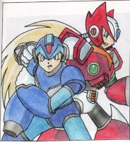 Megaman X and Zero by DeathSpikes