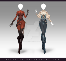 (CLOSED) Adoptable Outfit Auction 205 - 206 by JawitReen