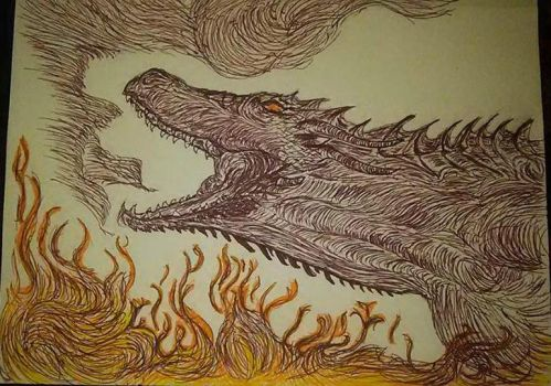 Drogon from game of thrones by Foreigner227