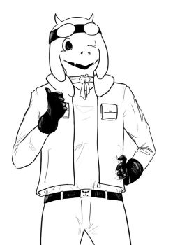 Toriel the Aviator by TheAnnoyer002
