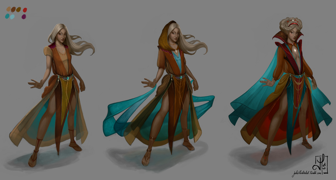 Stone Queen Character Design by julsillustrated