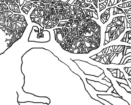 First Tree Drawing On Computer by Meadowstar01