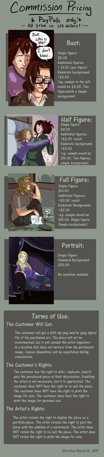 Commission Pricing by curiousdoodler