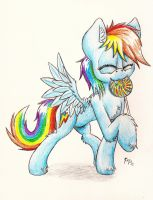 Dashie With Her Lollipop by Punk-Pegasus