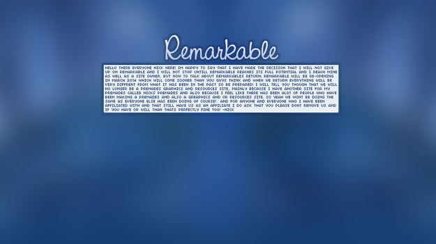 Remarkable by awesomenickblast