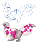 Lava Lamp Pudger WIPs by Aeoptera