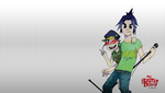 On Plastic Beach-Gorillaz Wallpaper Drawdecember 2 by Darukii