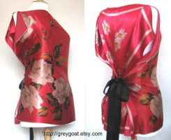 Ria Vintage Scarf Top by UKEtsy