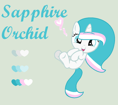 Sapphire Orchid: Reference Sheet by Lovegidget