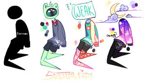 Sweater kids- Object heads OTA (CLOSED/PENDING) by bumbleteaa