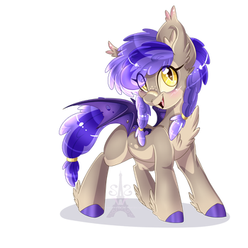 Bat Pony (Commission) by Silent-Shadow-Wolf