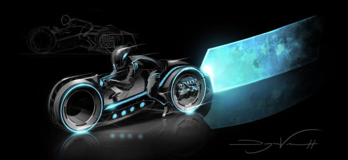 Tron Light Cycle by FutureElements