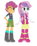 Scootaloo and Sweebel Puppets by EduardoNunes109
