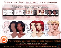 Skin tone Video tutorial pack .promo. by sakimichan