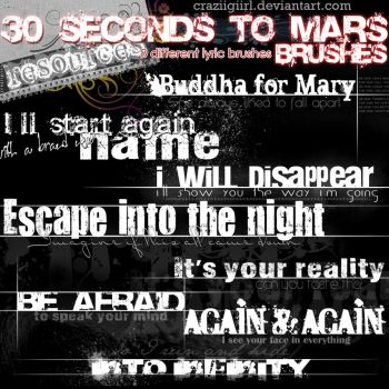 30 Seconds to Mars.Brushes by craziigiirl