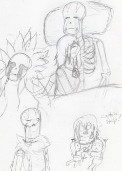 Papyrus' Human Servant doodles 3 by kakashisgirlfighter
