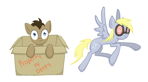 Derpy Hooves and Doctor Whooves by TheCheeseburger
