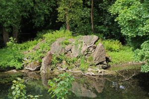 Rocky Outcrop in Pond 1 by fuguestock
