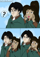 Try To Make Levi Smile by TraLaLayla