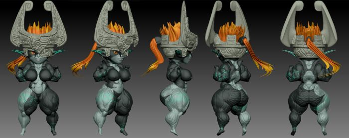 SUPER MIDNA ZBRUSH by B9TRIBECA