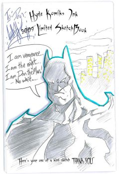 2009 SketchBook - Batman by HydeKomiksInk