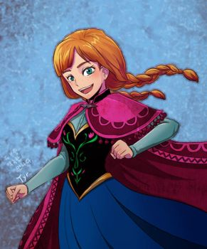 Frozen Anna by Tyr44