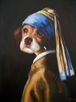 Penny With A Pearl Earring by HillaryWhiteRabbit