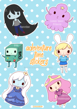 Adventure Time Stickers  by Chuubibii